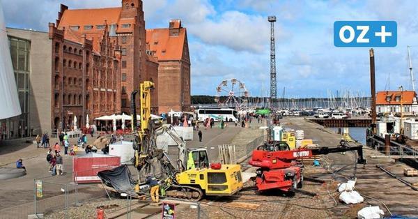 Bauarbeiten auf Stralsunder Hafeninsel: Ab September soll es laut werden
