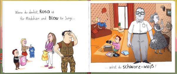"""Blick ins Buch """"Wenn du Nein sagst, stirbt ein Kaninchen!"""", erschienen im Verlag Klett Kinderbuch"""
