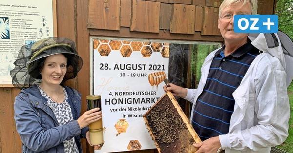 Honig, Hautcremes, heiß Gegrilltes: Das erwartet Besucher beim Wismarer Honigmarkt