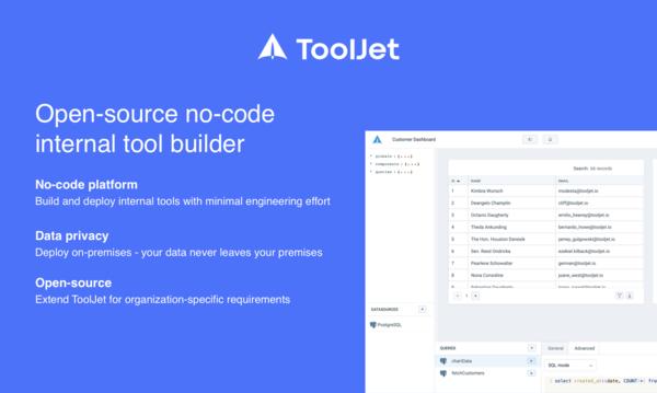 ToolJet - Build and deploy internal tools.