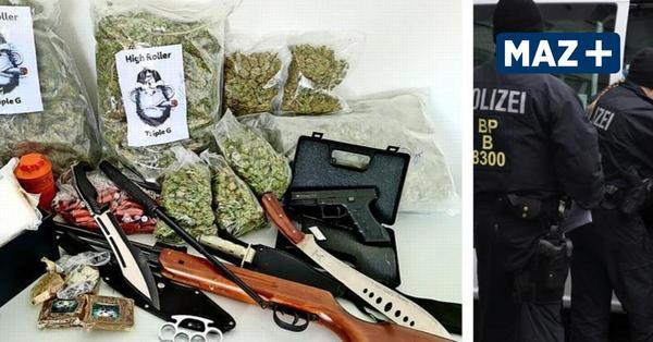 Drogen- und Waffenfund bei Razzia gegen Clans in Ludwigsfelde und Berlin