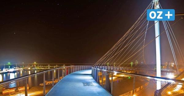 Umwege für Fußgänger in Sassnitz: Hängebrücke zum Hafen wegen Bauarbeiten gesperrt