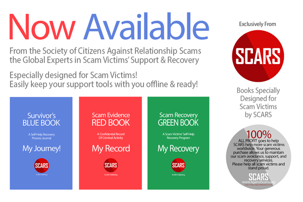 See all of the SCARS Scam Victim Self-Help Books!