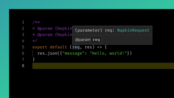 Type hints for `req` and `res`