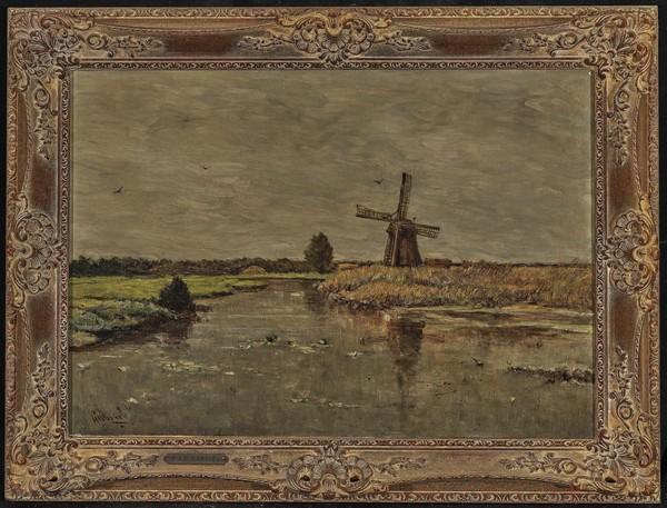Paul Joseph Constantin Gabriel - Holländische Landschaft mit Windmühle | Auktion 402