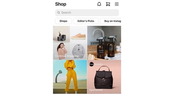 Ads in the Instagram Shop tab. Credit: Instagram