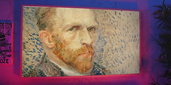 Een zelfportret van Van Gogh weergegeven in The Frame