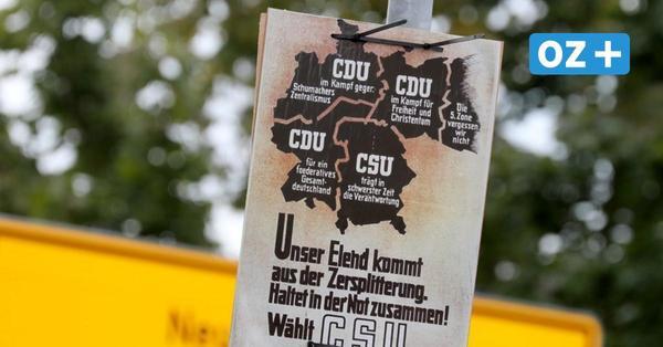 Alte Wahlplakate von 1949 in MV aufgehängt: Russland kritisiert Aktion