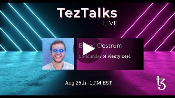 TezTalks Live #31 - Bernd Oostrum