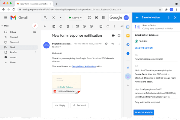 Save Gmail Emails to Notion 📦