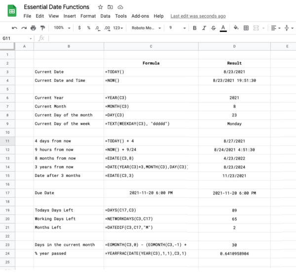 Essential Date Functions for Google Sheets 📅