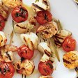 Grilled Seafood Kebabs and Orecchiette with Arugula Recipe