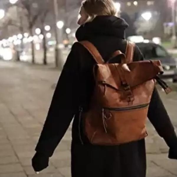 Unisex leather backpacks
