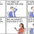 Brand Fatigue and Brand Consistency cartoon