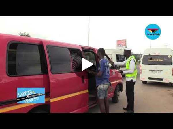 #GhanaWebRoadSafety: How DVLA, MTTD disciplined these drivers on the spot at Achimota