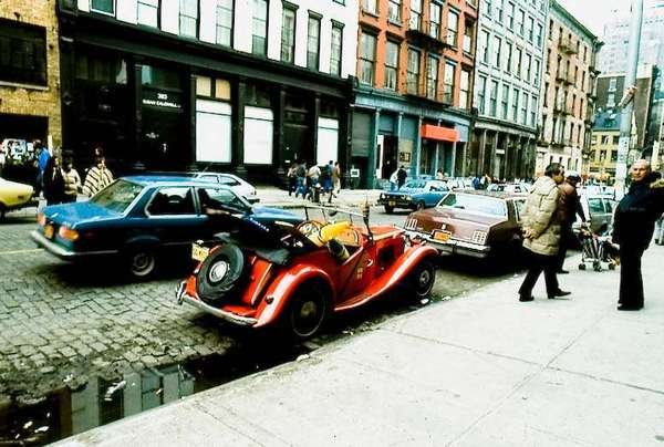 Streets of Soho, New York City, circa 1980. Photography was very different back then and the only thing that I regret was not taking a lot more photos.