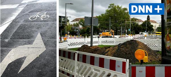 Mehr Sicherheit für Radfahrer – warum am Dippoldiswalder Platz gegraben wird