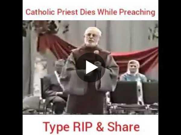 Catholic Priest Dies While Preaching
