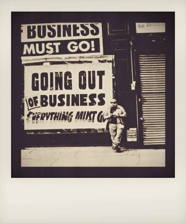 everything must go, New York City, 11 September 2010. Retro polaroid processing.