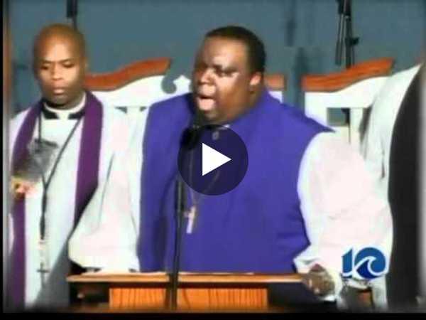 Preacher dies after giving sermon. His name: was Bishop Barnett K. Thoroughgood