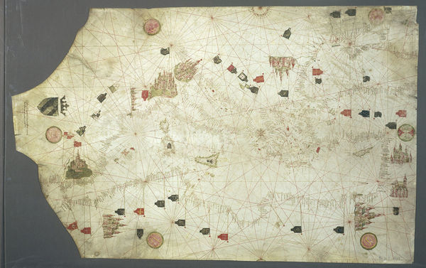 The 1447 portolan map of Gabriel de Vallsecha, possibly related to Cresques Abraham