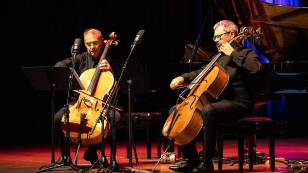 Alexander Rudin & Leonid Gorokhov bij het Internationaal Cellofestival   © Jascha Bordon