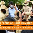 Campus Front Of India Members Protest Against NEP-2020
