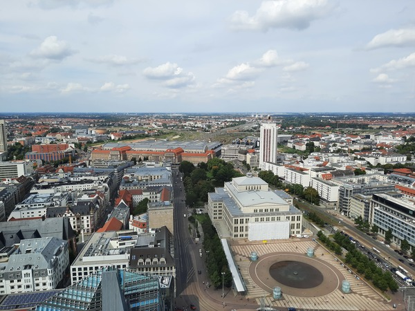 Atemberaubende Aussicht vom Panorama Tower auf Leipzig. Foto: Kempner
