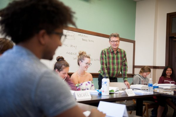 An English class at University of Redlands. (Courtesy of U. of Redlands)