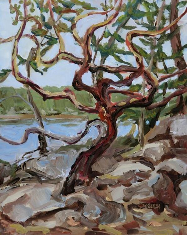 Terrill Welch | Shapely Arbutus Tree (2021) | Available for Sale | Artsy