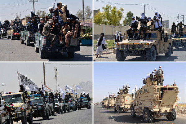 Taliban throws victory parade with US military equipment