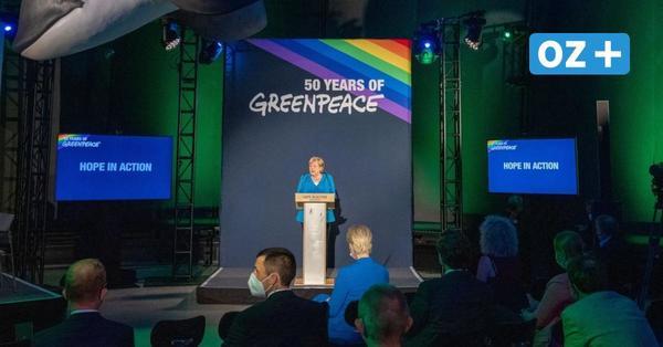Video zum Festakt 50 Jahre Greenpeace in Stralsund: Das sagte Kanzlerin Merkel