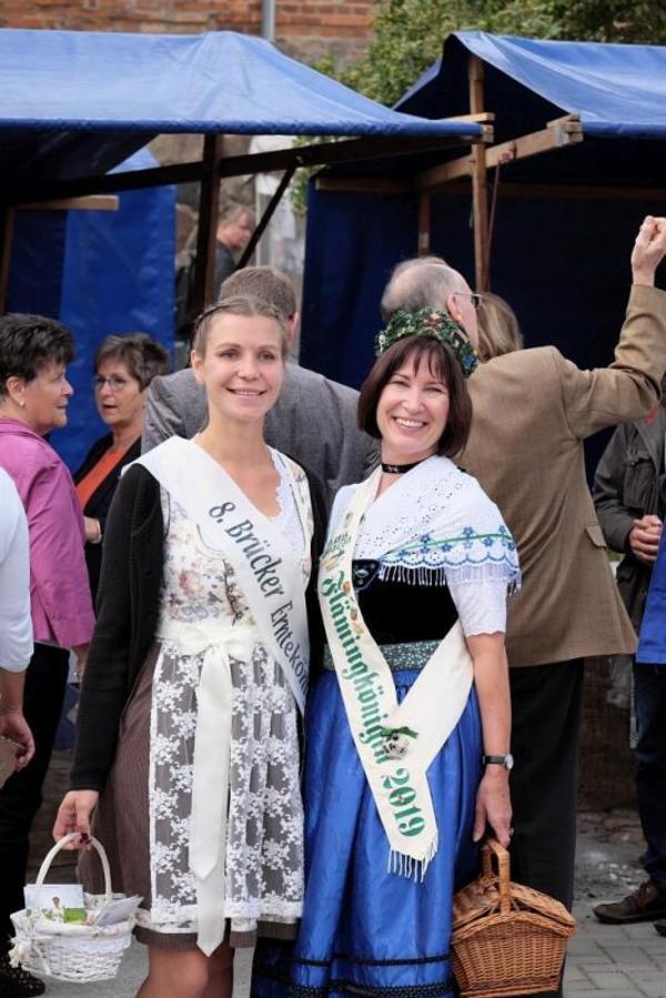Die Fläming- und die Erntekönigin laden ein. Foto: privat