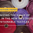 Water Europe releases its new position paper for a Water Smart Textile Industry