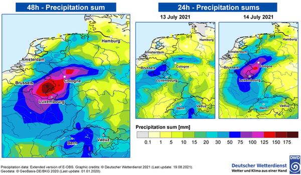 Le climat en cause dans les inondations de juillet en Europe