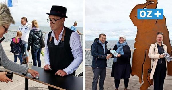 Neue Skulptur und neue Gastronomie auf Koserower Seebrücke auf Usedom