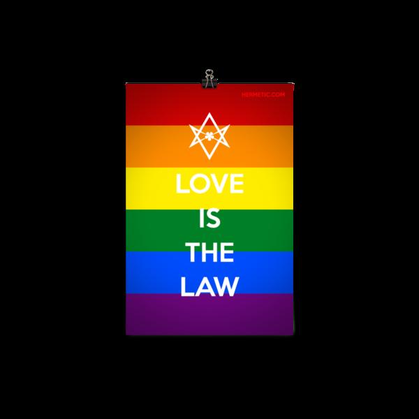 Unicursal LOVE IS THE LAW Rainbow