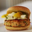 Pan-Seared Salmon Burgers with Fennel Slaw | Giadzy