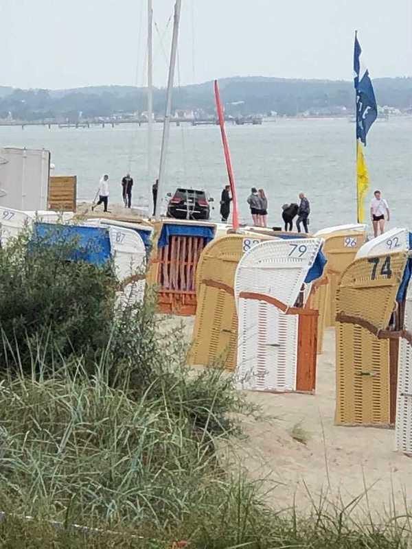 Irrfahrt am Strand von Scharbeutz.                                                     Foto: Felix Löw