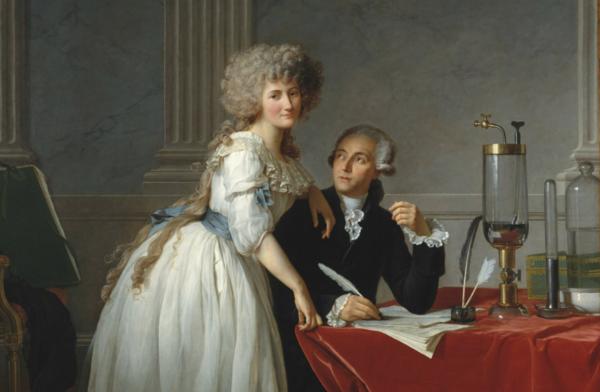 Jacques Louis David's famous portrait of the Lavoisiers