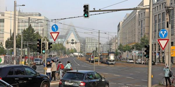 Leipzigs Johannisplatz wird Montag Großbaustelle