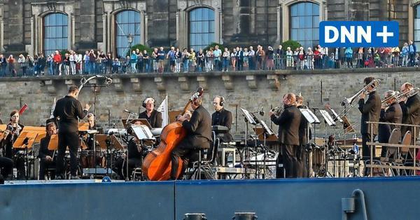 Elbkarawane in Dresden: Konzert für Orchester und Dampfer begeistert Fans