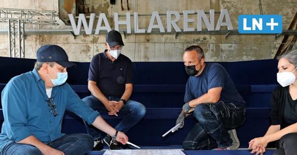 Aufbau bei Gollan: So laufen die Vorbereitungen für die ARD-Wahlarena