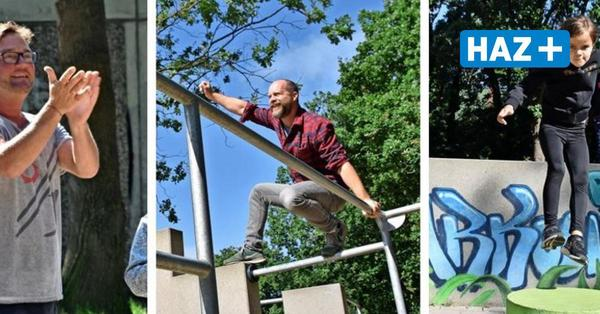 """""""Ausprobiert"""": HAZ-Redakteur Simon Polreich beim Parkour in Garbsen"""