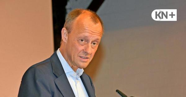 Wahlkampf der Union: Friedrich Merz in Büdelsdorf - Klimaneutralität nur von Deutschland hilft niemandem