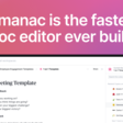 Almanac   The fasted doc editor ever built