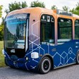 Self-driving electric shuttle heading to Whitby GO as part of AV pilot project