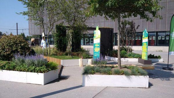 Un jardin pop-up à Ypres pour inspirer - Pop-uptuin in Ieper moet inspireren