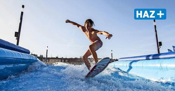 Surf-Anlage in Hannover: Enercity lädt zum Wellenreiten auf dem Opernplatz