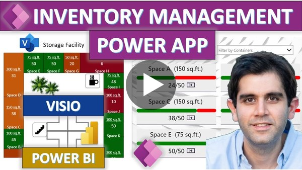 Power BI Tiles & Reports in Power Apps | Inventory Management Solution